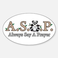 Panda A.S.A.P. Oval Decal