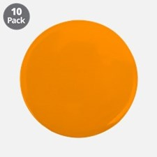"Solid Princeton Orange 3.5"" Button (10 pack)"