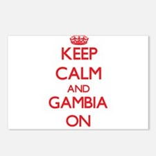 Keep calm and Gambia ON Postcards (Package of 8)