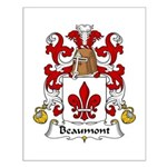 Beaumont Family Crest Small Poster