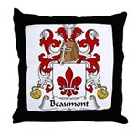 Beaumont Family Crest Throw Pillow