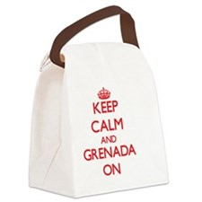 Keep calm and Grenada ON Canvas Lunch Bag