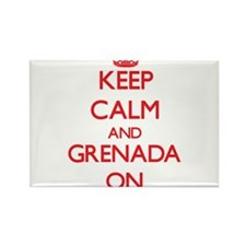Keep calm and Grenada ON Magnets