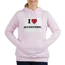 I Love Accounting Women's Hooded Sweatshirt
