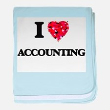 I Love Accounting baby blanket