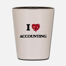 I Love Accounting Shot Glass