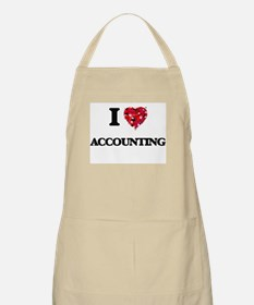 I Love Accounting Apron
