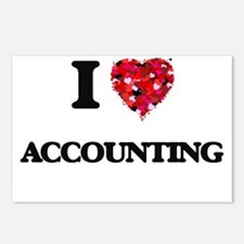 I Love Accounting Postcards (Package of 8)