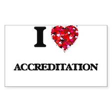 I Love Accreditation Decal