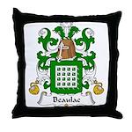 Beaulac Family Crest Throw Pillow