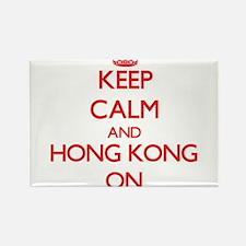 Keep calm and Hong Kong ON Magnets
