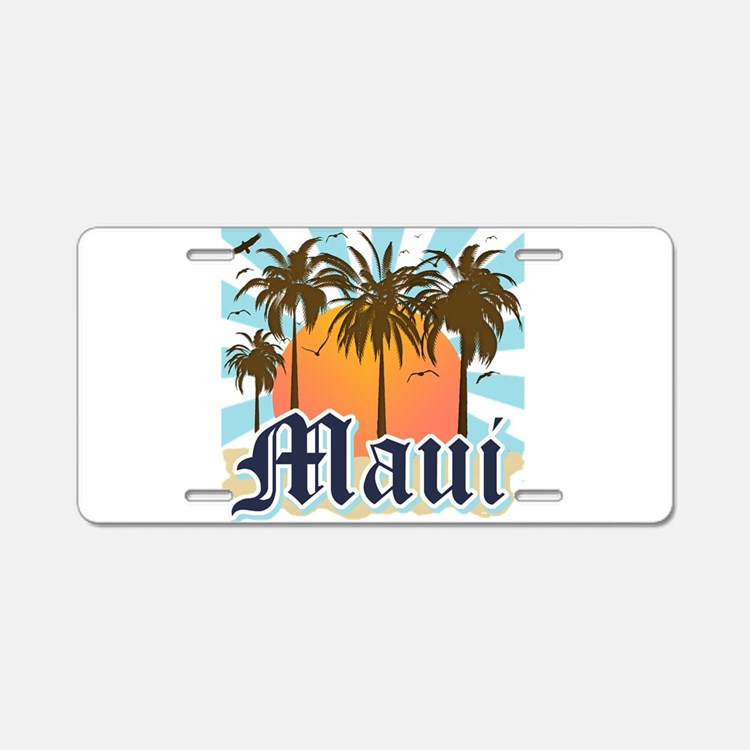 Maui Hawaii Aluminum License Plate