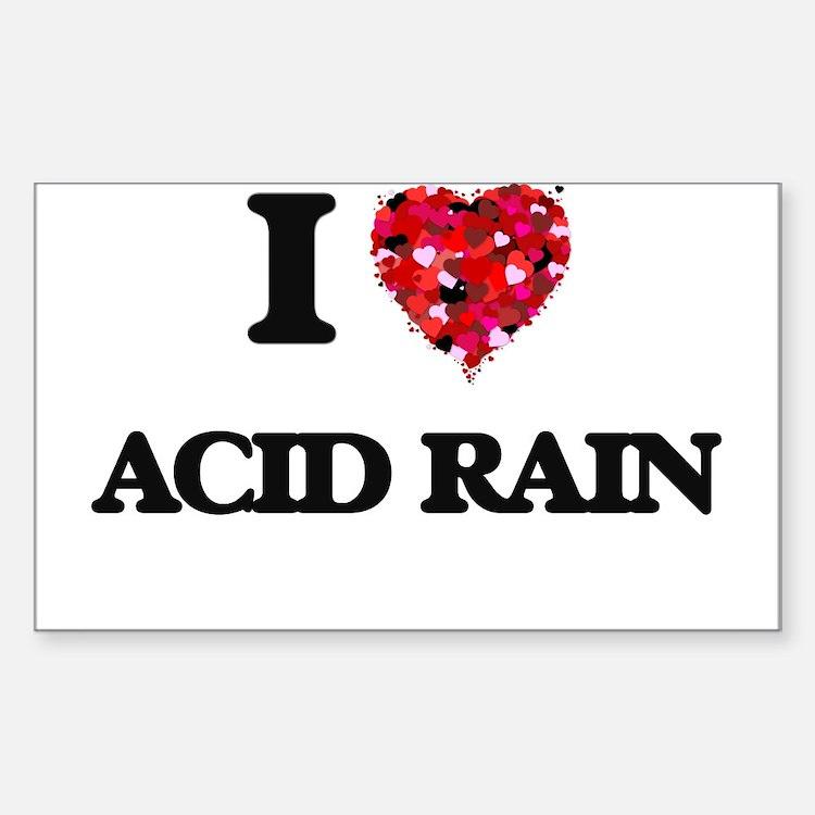 I Love Acid Rain Decal