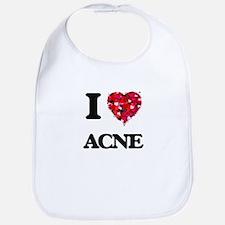 I Love Acne Bib