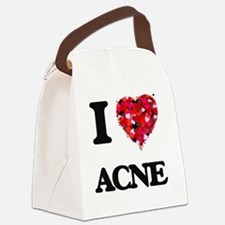 I Love Acne Canvas Lunch Bag