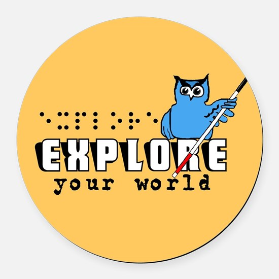Explore Round Car Magnet