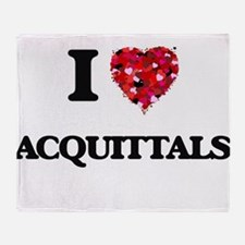 I Love Acquittals Throw Blanket