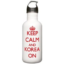 Keep calm and Korea ON Water Bottle