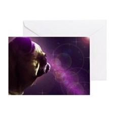 Pug in Space Greeting Card