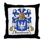 Beauchamp Family Crest Throw Pillow