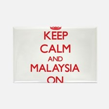 Keep calm and Malaysia ON Magnets