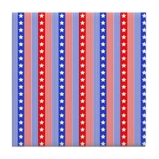 4th July Pattern Collection Tile Coaster