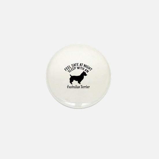 Sleep With Australian Terrier Dog Desi Mini Button
