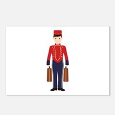 Bell Boy Hotel Luggage Bellhop Postcards (Package