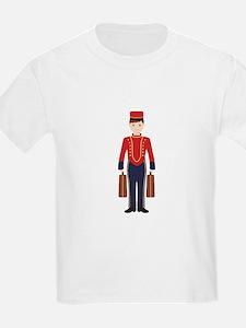 Bell Boy Hotel Luggage Bellhop T-Shirt