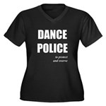 <i>Dance Police</i> Women's Plus Size V-Neck Dark