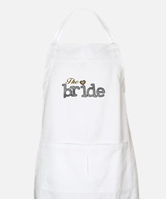 Silver and Gold Bride BBQ Apron