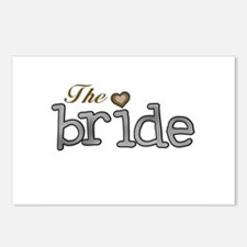 Silver and Gold Bride Postcards (Package of 8)