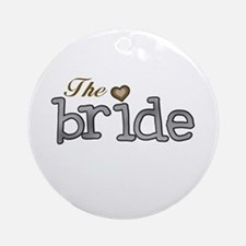 Silver and Gold Bride Ornament (Round)