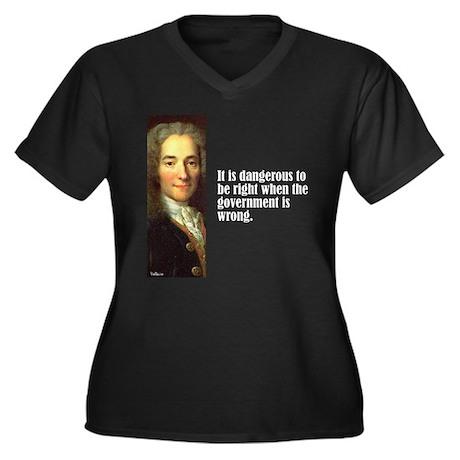 "Voltaire ""Dangerous"" Women's Plus Size V-Neck Dark"