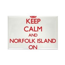 Keep calm and Norfolk Island ON Magnets