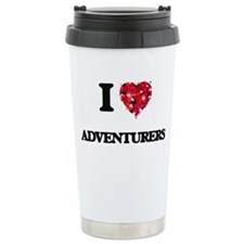 I Love Adventurers Travel Mug