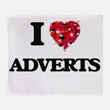 I Love Adverts Throw Blanket