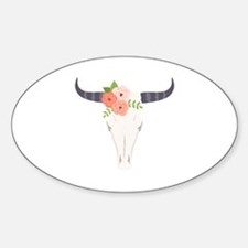 Cow Skull Flowers Bohemian Decal