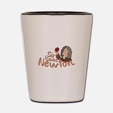 Sir Isaac Newton Shot Glass