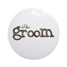 Silver and Gold Groom Ornament (Round)
