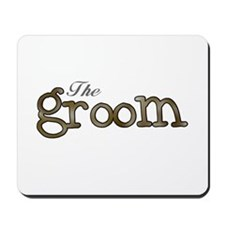 Silver and Gold Groom Mousepad