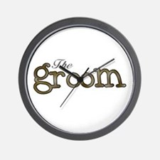 Silver and Gold Groom Wall Clock