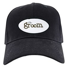 Silver and Gold Groom Baseball Hat