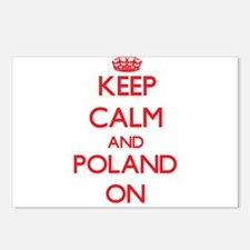 Keep calm and Poland ON Postcards (Package of 8)