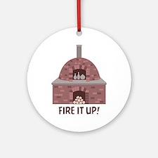 Pottery Kiln Fire Ornament (Round)