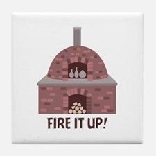 Pottery Kiln Fire Tile Coaster