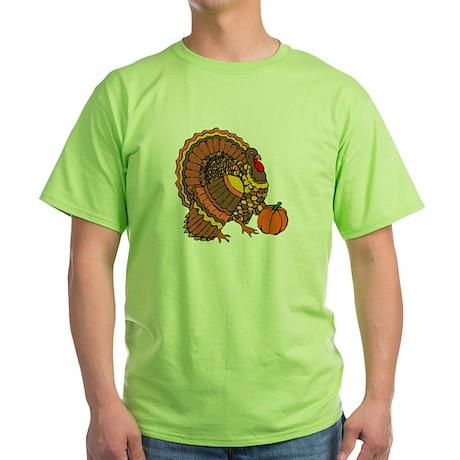 Holiday Turkey Green T-Shirt