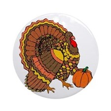 Holiday Turkey Ornament (Round)