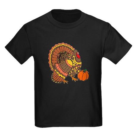 Holiday Turkey Kids Dark T-Shirt
