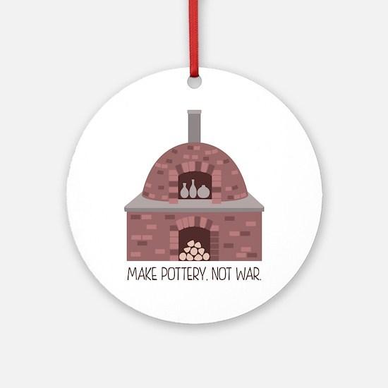 Pottery Kiln No War Ornament (Round)